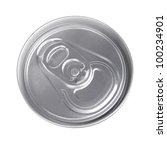 top of silver drink can... | Shutterstock . vector #100234901