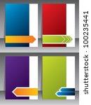 business brochure templates... | Shutterstock .eps vector #100235441