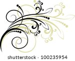 decorative branch   element for ... | Shutterstock .eps vector #100235954