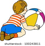 boy playing with ball   Shutterstock .eps vector #100243811
