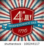 vector independence day badge   ... | Shutterstock .eps vector #100244117