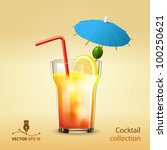 cocktail | Shutterstock .eps vector #100250621