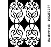 vector damask ornament | Shutterstock .eps vector #100253399