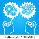 head and brain gears in...   Shutterstock .eps vector #100254845