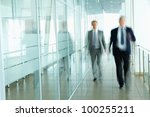 business people walking in the... | Shutterstock . vector #100255211