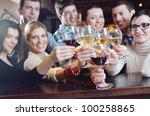 group of happy young people... | Shutterstock . vector #100258865