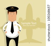 Vector Illustration With Pilot...
