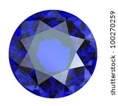 round blue gemstone isolated on ... | Shutterstock . vector #100270259