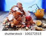 After easter was  memory only and  giant mess - stock photo