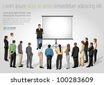 business people and white... | Shutterstock .eps vector #100283609