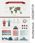 old styled infographics | Shutterstock .eps vector #100284719