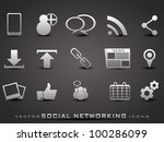 set of web 2.0 icons for web... | Shutterstock .eps vector #100286099