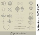 graphics elements on a gray... | Shutterstock .eps vector #100286855