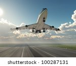 airplane taking off | Shutterstock . vector #100287131
