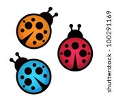 lady bug. vector illustration. | Shutterstock .eps vector #100291169