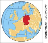 germany locate map   Shutterstock .eps vector #100298999