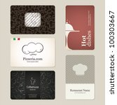 set of 5 detailed business...   Shutterstock .eps vector #100303667