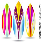vector surf boards   abstract... | Shutterstock .eps vector #100318394