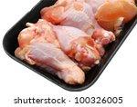 Fresh raw chicken legs - stock photo