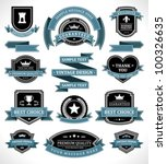 vintage labels and ribbon retro ... | Shutterstock .eps vector #100326635