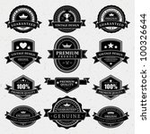 vintage labels and ribbon retro ... | Shutterstock .eps vector #100326644