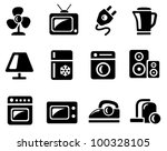 home electronics icon set | Shutterstock .eps vector #100328105