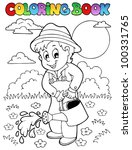 coloring book garden and... | Shutterstock .eps vector #100331765