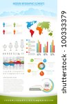 modern nature infographic... | Shutterstock .eps vector #100333379