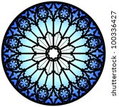 Gothic Rose Window Illustration