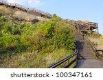 boardwalk trail on pompeys... | Shutterstock . vector #100347161