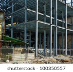 construction site with steel... | Shutterstock . vector #100350557