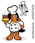 chef   cooker dog character | Shutterstock .eps vector #100357631