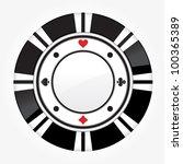 single black casino chip...   Shutterstock .eps vector #100365389