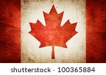 grunge flag of canada | Shutterstock . vector #100365884