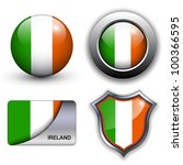 ireland flag icons theme.