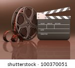 roll of film with a clapboard... | Shutterstock . vector #100370051
