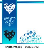 valentine card  retro style ... | Shutterstock .eps vector #10037242