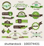 organic and genuine product...   Shutterstock . vector #100374431
