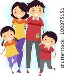 illustration of a family... | Shutterstock .eps vector #100375151