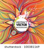 abstract vector background | Shutterstock .eps vector #100381169