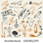 pencil drawing. vector version... | Shutterstock .eps vector #100381295