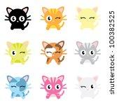 cute cat characters | Shutterstock .eps vector #100382525