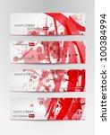 abstract banner set in vector... | Shutterstock .eps vector #100384994
