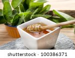 cheese with honey | Shutterstock . vector #100386371