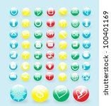 round icons set for web buttons ... | Shutterstock .eps vector #100401169