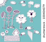 doodle country set  hand drawn...   Shutterstock .eps vector #100404079