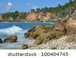 rocky haiti shore   Shutterstock . vector #100404745