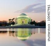 thomas jefferson memorial... | Shutterstock . vector #100407961