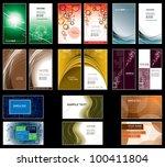 business card templates. | Shutterstock .eps vector #100411804