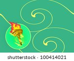 Olympic Flame Background With...